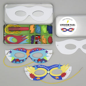 Superhero Masks Make It Kit - engagement gifts