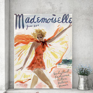 Mademoiselle, Canvas Art - people & portraits