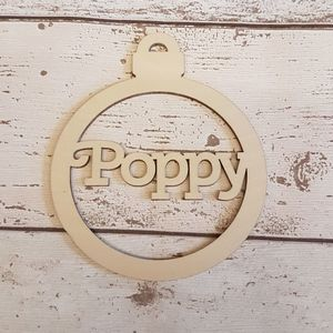 Birchwood Personalised Christmas Name Baubles - tree decorations