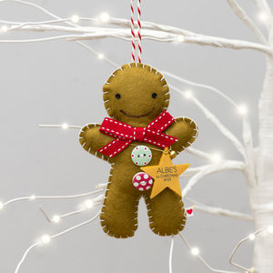 Baby's First Christmas Gingerbread Man Decoration - tree decorations