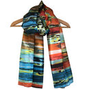 Large 'Sundown' Pure Silk Scarf