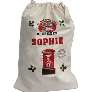 Personalised Post Box Christmas Sack