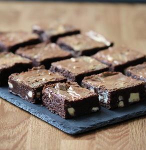 White Gold Chocolate Brownies - brownies