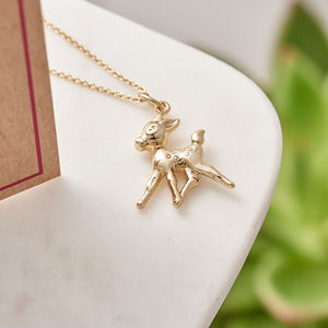 Bambi Charm Necklace With Card