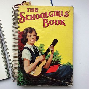 'The Schoolgirls Book' Upcycled Notebook