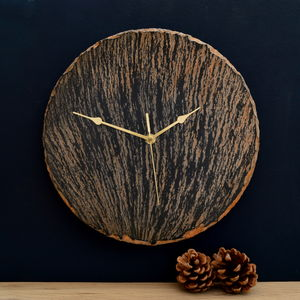 Slate And Copper Clock - home accessories