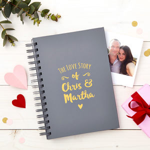 Personalised Couple's Love Story Memory Book