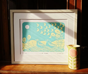 A New Direction Hand Printed Screenprint By Liz Toole