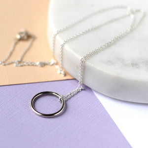 Simple Circle Necklace Sterling Silver