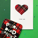 Scottish Father's Day Card And Coaster Combo