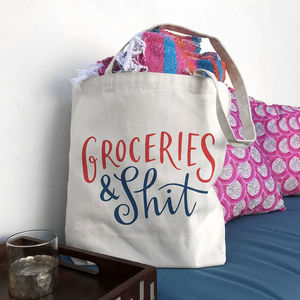 'Groceries And Shit' Tote Bag - mens
