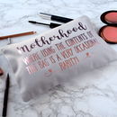 Personalised Motherhood Make Up Bag