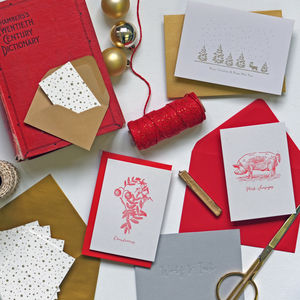 Choose Four Boxes Of Christmas Cards - cards