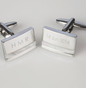 Personalised Cufflinks With Initials - men's accessories