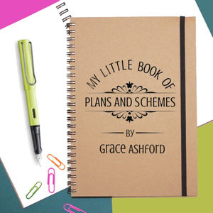 Plans And Schemes Personalised Notebook - gifts for teenagers