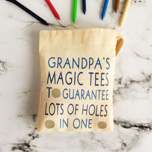 Personalised Bag Of Golf Tees - personalised gifts for fathers