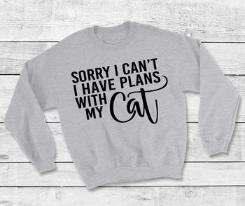 I'm Sorry I Can't I Have Plans With My Cat Sweatshirt