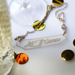 Let It Snow Necklace - christmas jewellery