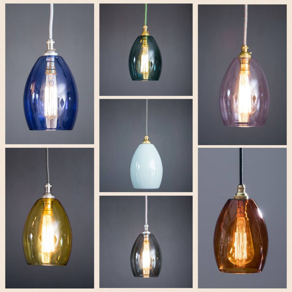 Coloured Glass Bertie Small Pendant Light By Glow Lighting Notonthehighstreet Com