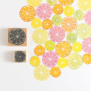 Citrus Rubber Stamps