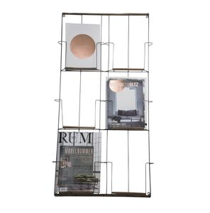 Antique Copper Wall Mounted Magazine Rack - on trend: copper