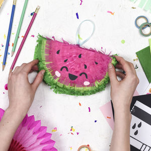 Craft Your Own Watermelon Mini Pinata Craft Kit - sewing kits