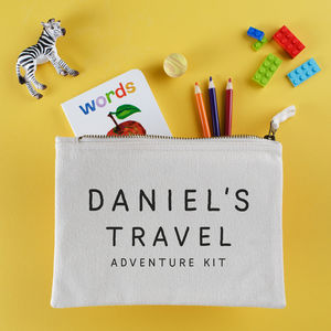 Personalised Kids Travel Kit Pouch - more