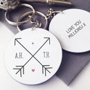 Personalised Arrow Initial Keyring