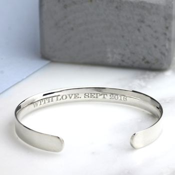 Women's Slim Silver Open Bangle