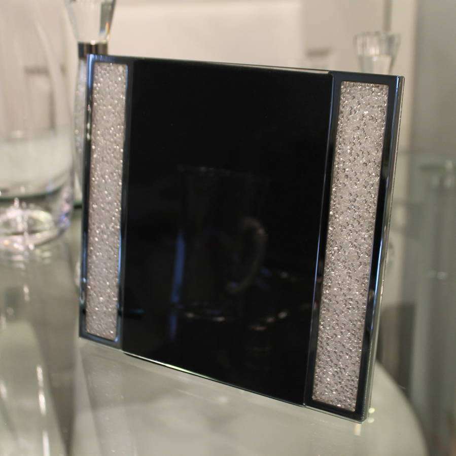 large photo frame filled with swarovski crystals by diamond affair ...