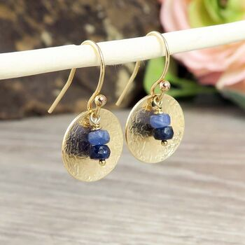 Sapphire Earrings In Silver Or Gold