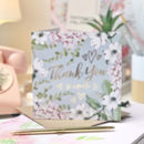 Thank You Botanical And Gold Greeting Card