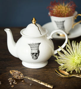 Skull In Crown Small Teapot - ceramic studio