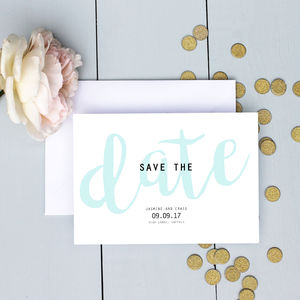 Modern Pastel Wedding Save The Date Card