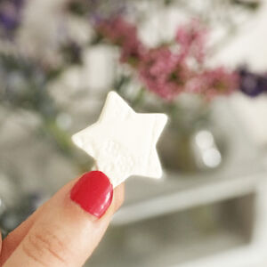 Porcelain Star With Personalised Card