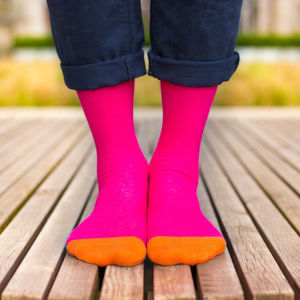 Colourful Pink Patterned Socks - men's fashion
