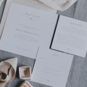 Tangled In Knot Invitation Set - menu cards