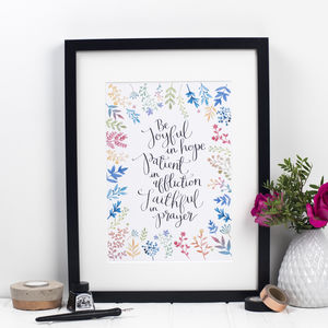 'Be Joyful In Hope' Print