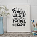 Plants In Pots Limited Edition Screen Print