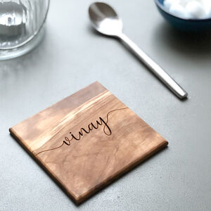Personalised Italian Olive Wood Coasters