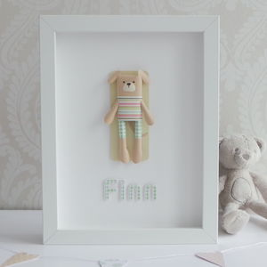 Personalised Framed 3D Paper Dog
