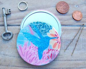 Faye Silk Covered Compact Mirror - compact mirrors
