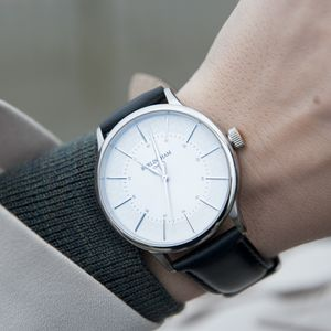 'Confluence' Silver Unisex Watch - mens