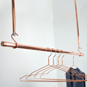 Copper Clothes Hanging Rail