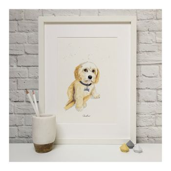 Contemporary Watercolour Pet Portrait
