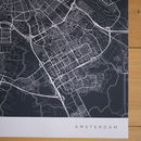 Personalised Contemporary Location Map Print
