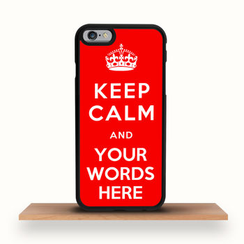 Keep Calm Personalised iPhone Case