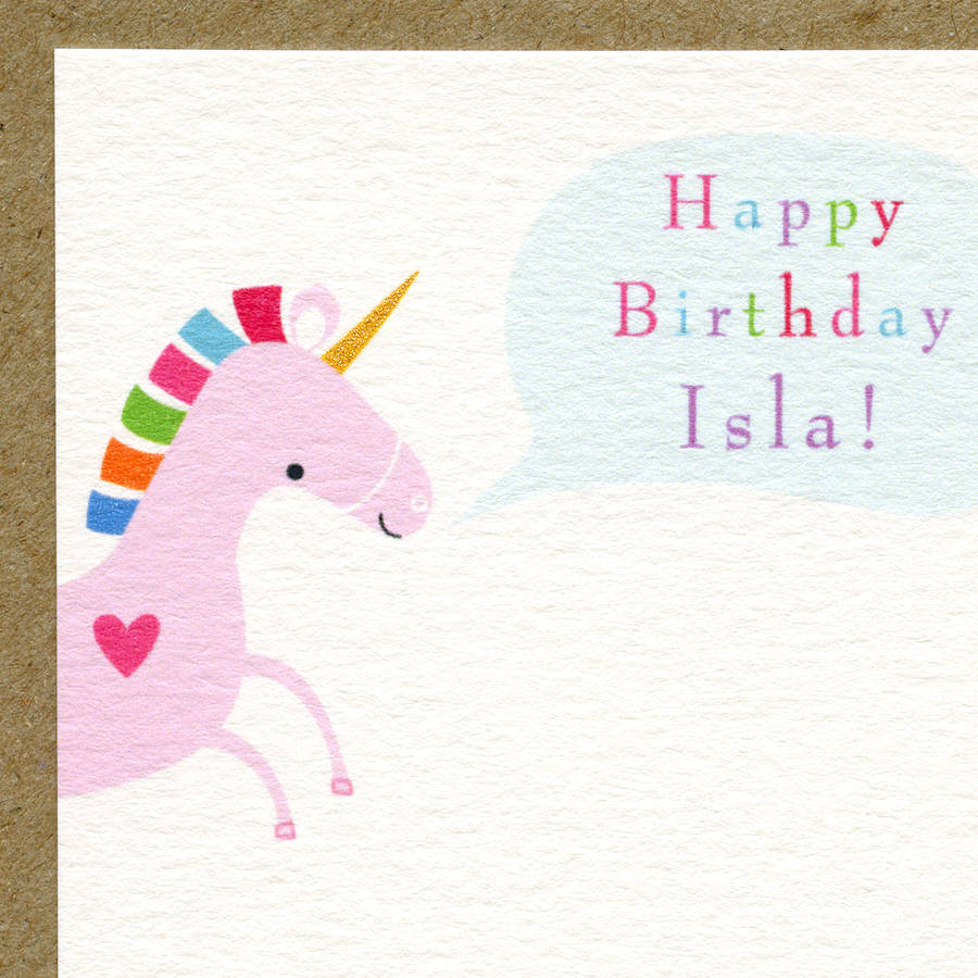Unicorn First Birthday Card Or Pick Your Age