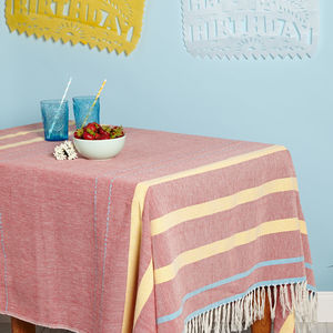 Mexican Tablecloth Blanket