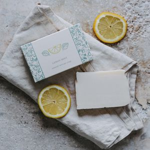Lemon Mint Soap - bathroom